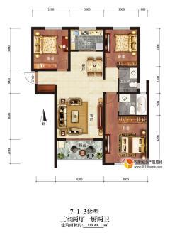 (漢濱區)仕府大院3室2廳2衛118m2毛坯房