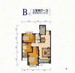 (高新区)天一城市之光3室2厅1卫102m²毛坯房